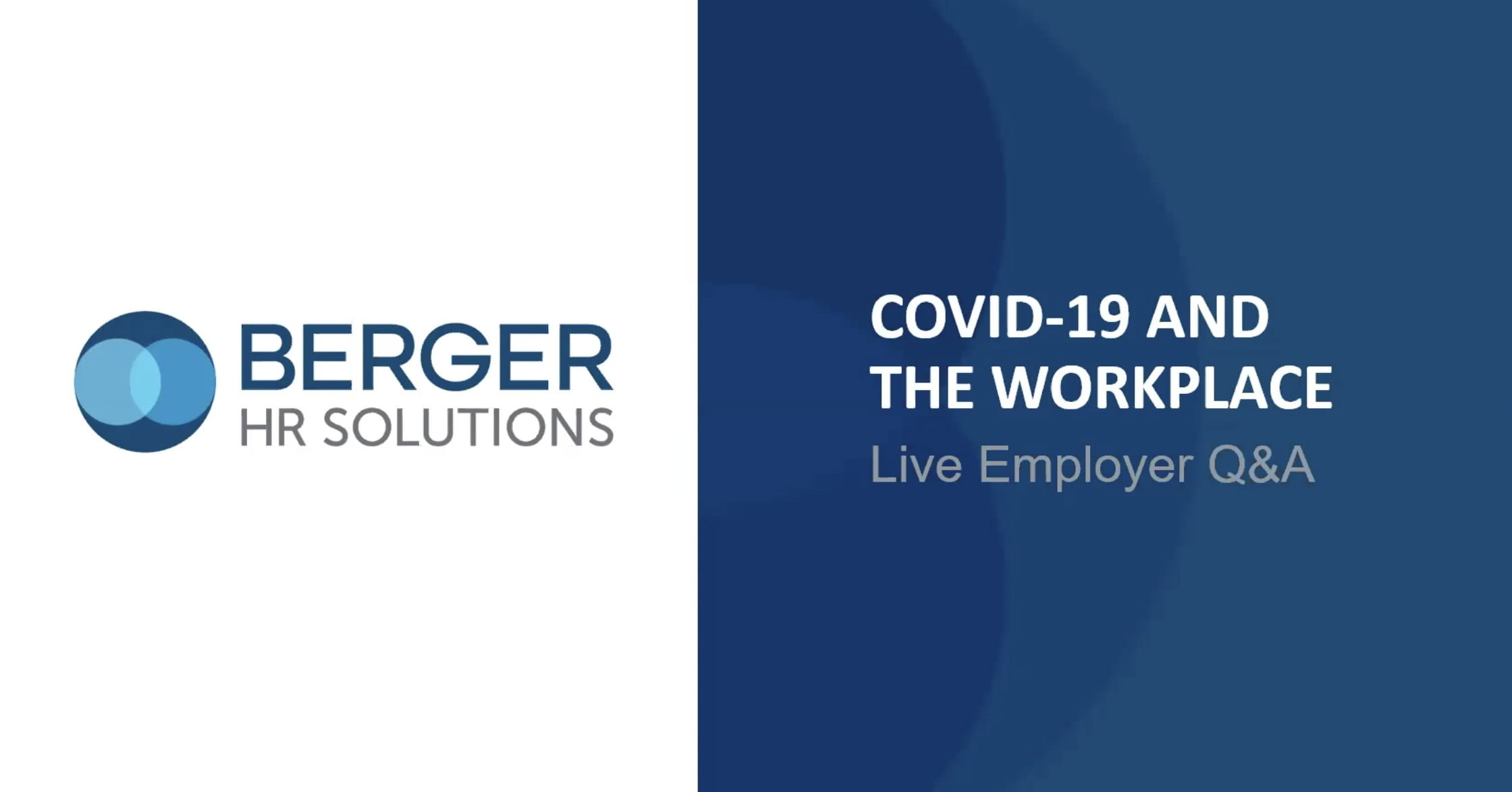 The impact of COVID-19 on the workplace is unprecedented. As an employer, you are likely facing challenges you have never faced before, receiving questions from employees you have never been asked before, and looking for creative work solutions you have never tried before. This is uncharted territory for many.