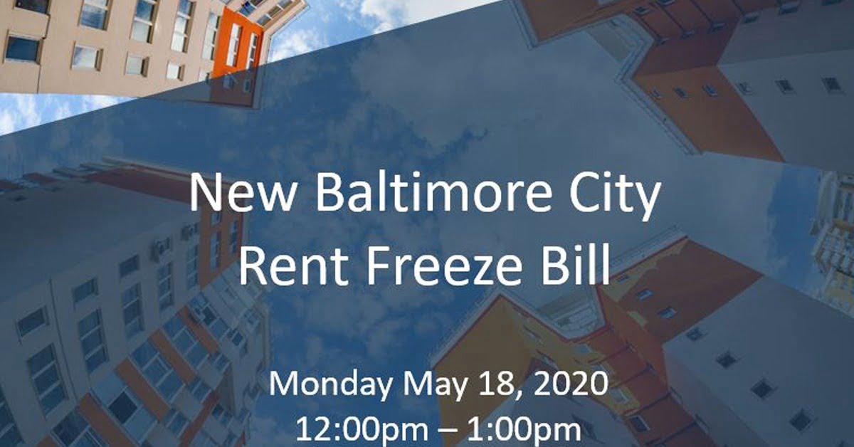 Baltimore Rent Freeze