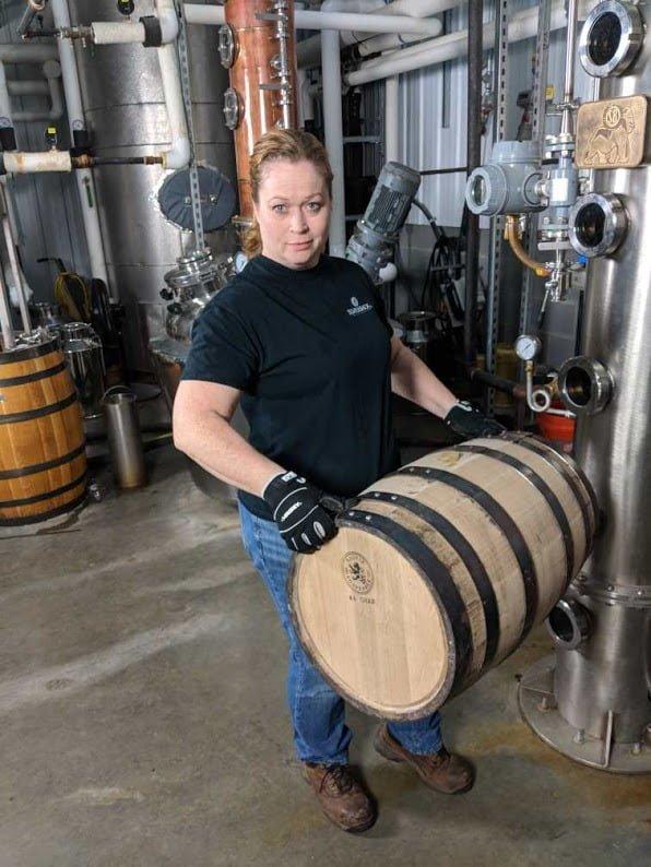 Christine-Holding-barrel