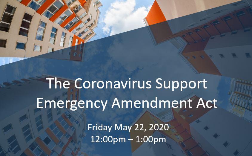 Coronavirus Support Emergency Amendment Act 5.22.20