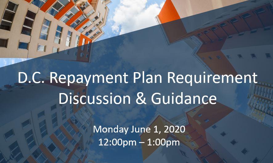 DC Repayment Plan Requirements webinar