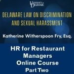 HR for Restaurant Managers | Part Two