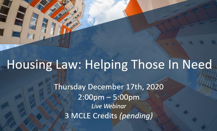 Housing law webinar v2 12.17.20