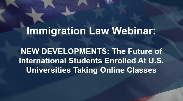 New Developments on student visa webinar