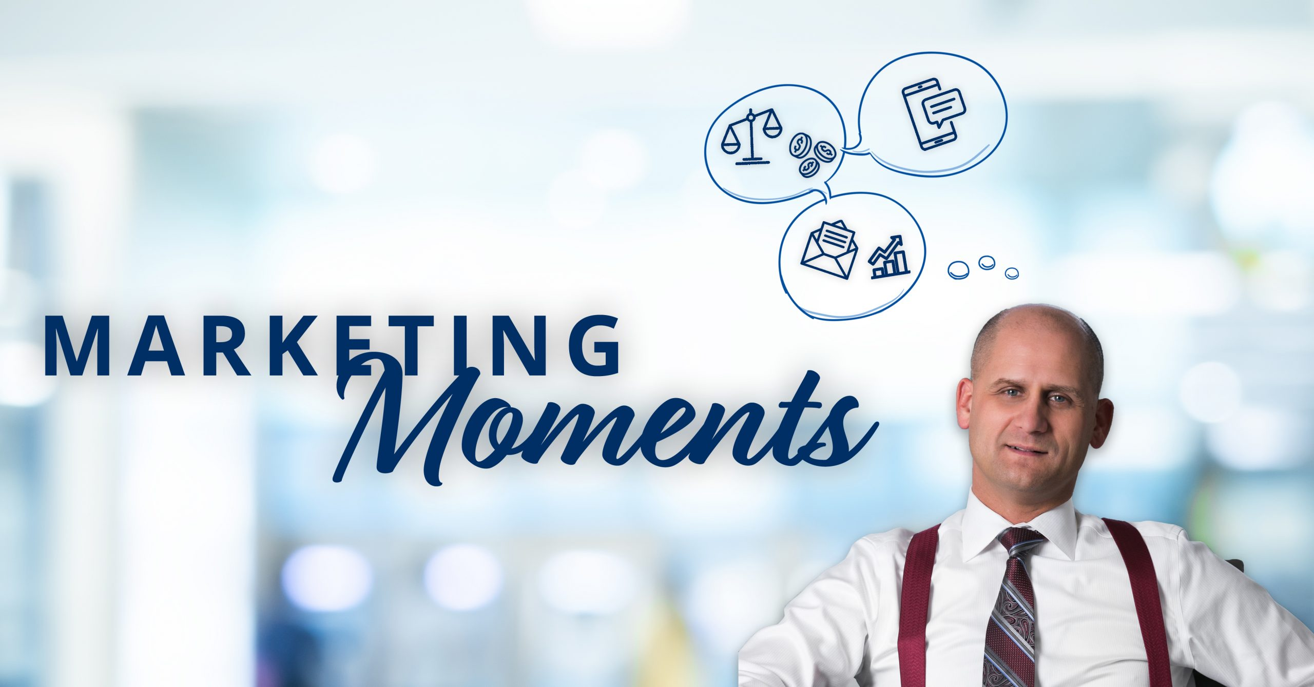 Marketing Moments podcast cover featuring attorney Thomas Repczynski