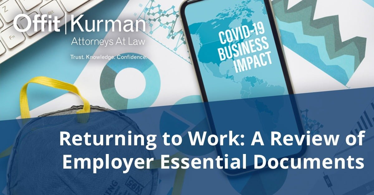 Returning to Work- A Review of Employer Essential Documents