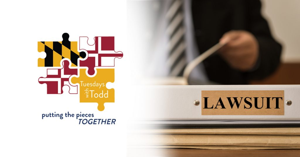 tuesday with todd header focusing on lawsuits