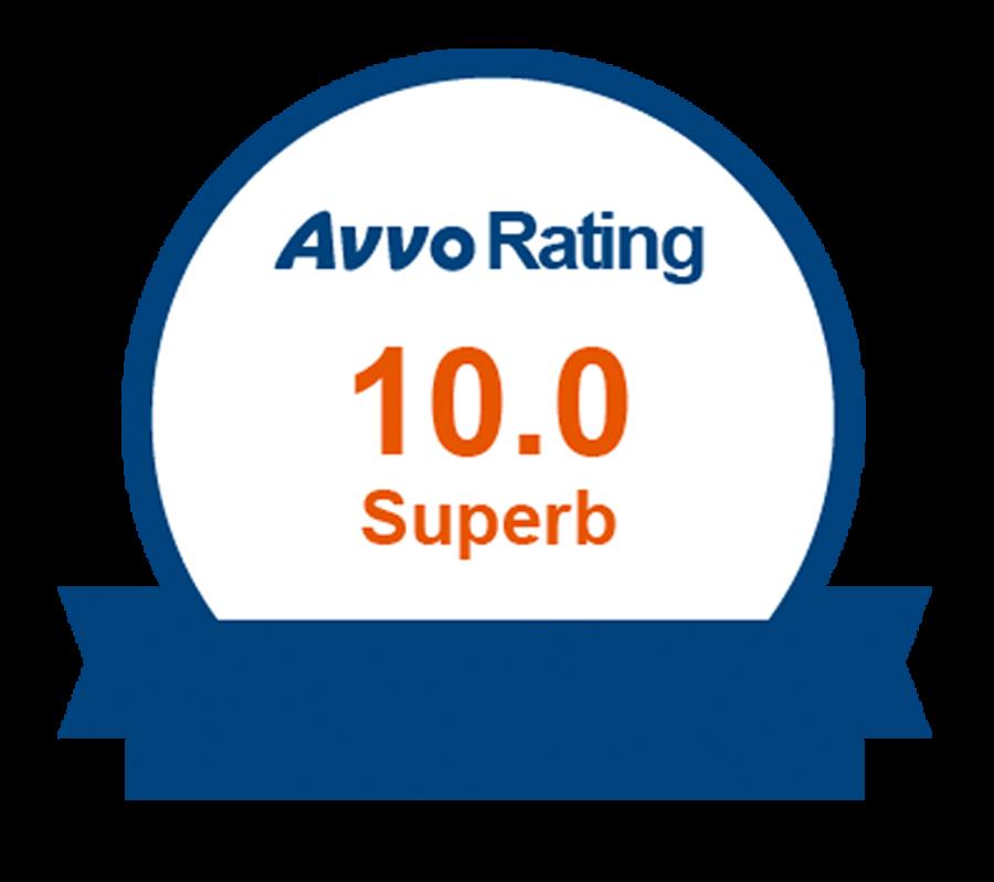 Avvo Rating 10.0 Superb logo