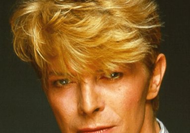 headshot of the singer, David Bowie
