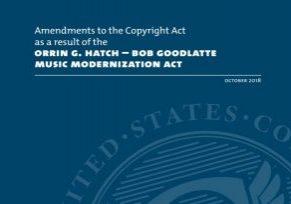 Music Modernization Act 2018