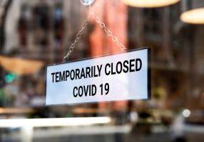 closed covid sign