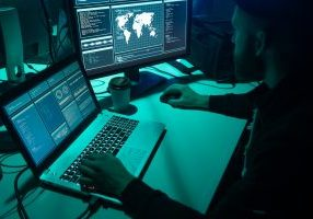 Hackers,Making,Cryptocurrency,Fraud,Using,Virus,Software,And,Computer,Interface.