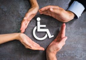 Disabled,Icon.,Worker,Injury,And,Disability.,Hands,Protecting