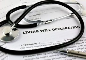 An concept Image of a living will declaration