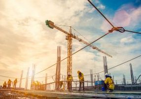 Construction,Site,And,Sunset,,,Structural,Steel,Beam,Build,Large