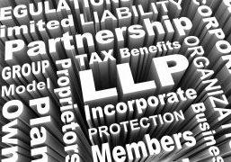 Llp,Limited,Liability,Partnership,Business,Model,Words,3d,Render,Illustration