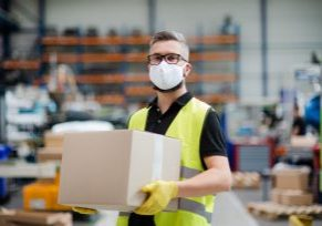 Man,Worker,With,Protective,Mask,Working,In,Industrial,Factory,Or