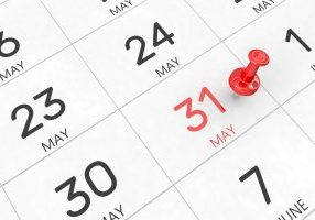 3d,Rendering,Of,Important,Days,Concept.,May,31st.,Day,31