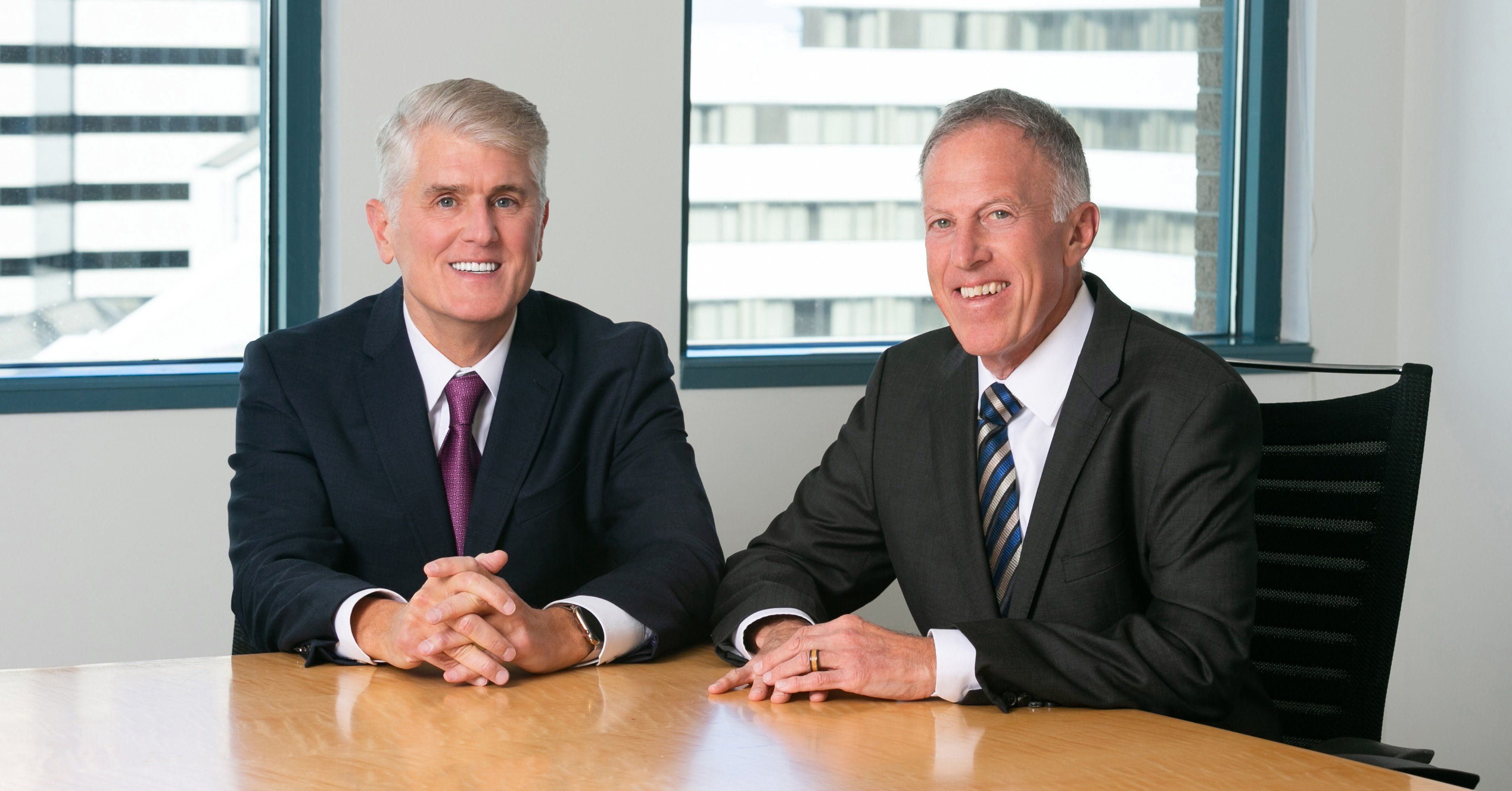 Jack Garson (left) with Ted Offit