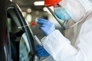 COVID Testing in Car