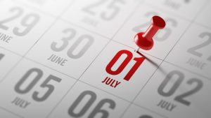 July 01 written on a calendar to remind you an important appointment.