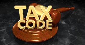 Tax Code Legal Gavel Concept 3D Illustration