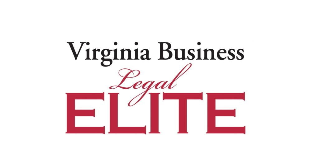 Black and red logo of Virginia Business Legal Elite
