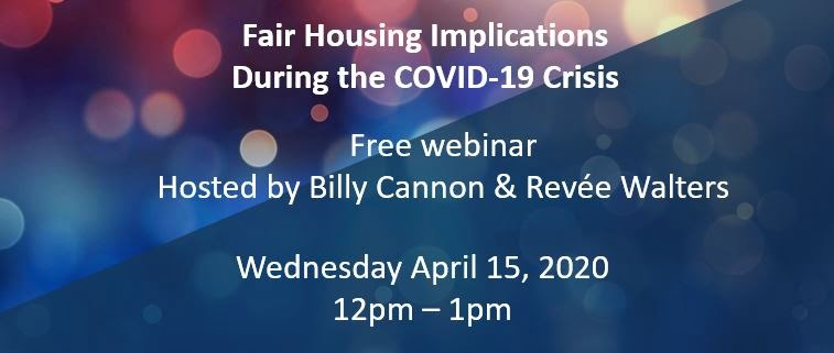 Fair Housing Webinar on April 15th 2020